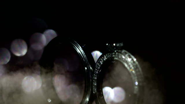beautiful wedding ring and engagement ring, 4k. - jewelry stock videos and b-roll footage