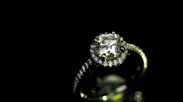 Beautiful wedding ring and engagement ring, 4K.