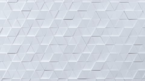 beautiful white triangles morphing in seamless 3d animation. abstract motion design background. - triangle shape stock videos & royalty-free footage