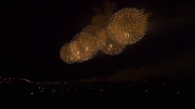 Beautiful wide Fireworks