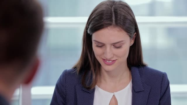 Beautiful woman at a business meeting