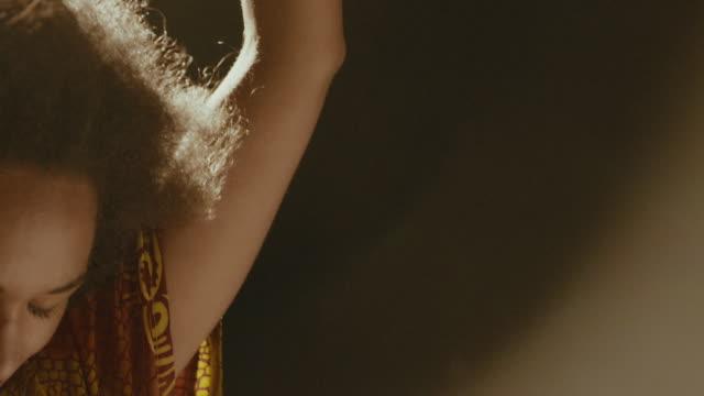 beautiful woman dancing - brown hair stock videos & royalty-free footage