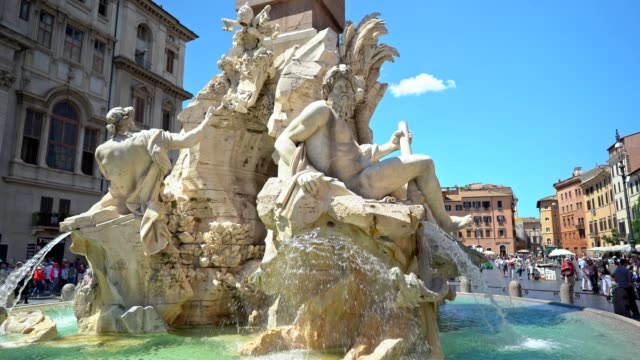 beautiful woman in rome - piazza navona stock videos & royalty-free footage