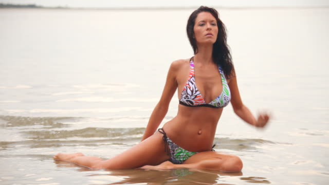 beautiful woman in swimsuit - photographing stock videos & royalty-free footage