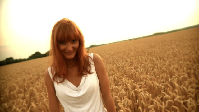 hd: beautiful woman in wheat - ripe stock videos and b-roll footage