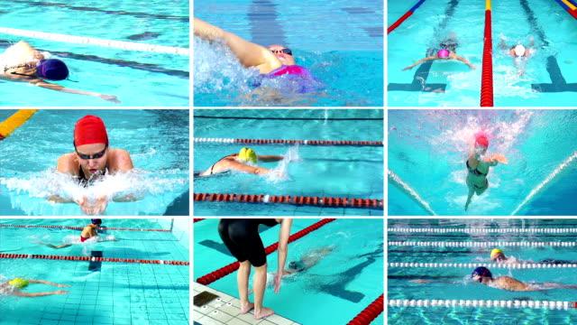 hd montage:  schöne frauen-sport-action - sammlung stock-videos und b-roll-filmmaterial