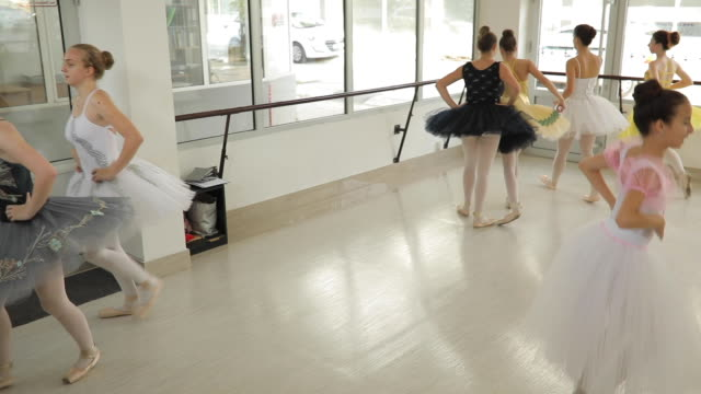 beautiful young girls ballet dancers - small stock videos & royalty-free footage