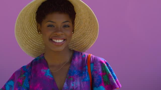 Beautiful Young Woman - Colorful Wall