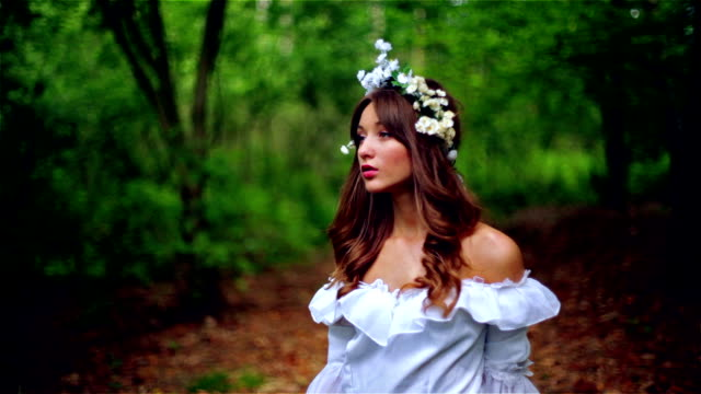 beautiful young woman in nature - princess stock videos & royalty-free footage