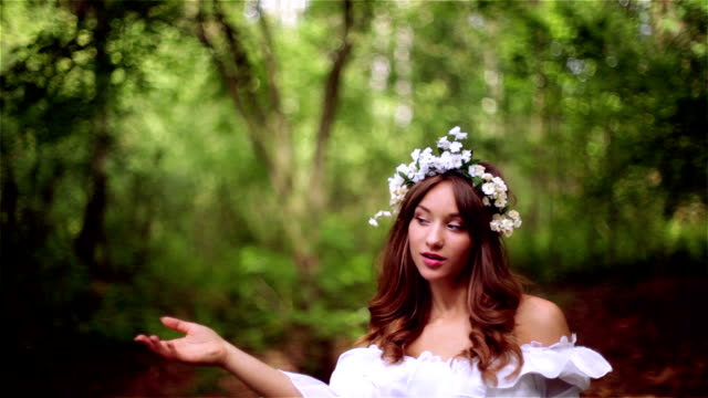 Beautiful young woman in nature.
