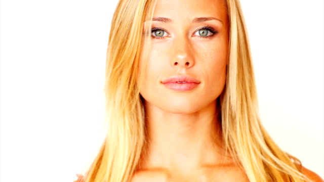 beautiful young woman laughing - blonde hair stock videos & royalty-free footage