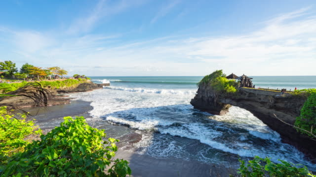 Beautifull blue sky at Hindu temple Pura Tanah Lot, Bali, Indonesia