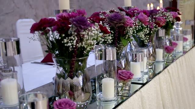 Wunderschön gestaltete Hochzeit Tisch