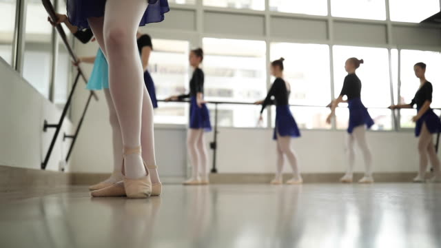 beauty and balance - ballet studio stock videos & royalty-free footage
