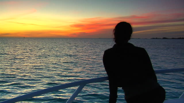 beauty and the sunset - caribbean sea stock videos and b-roll footage