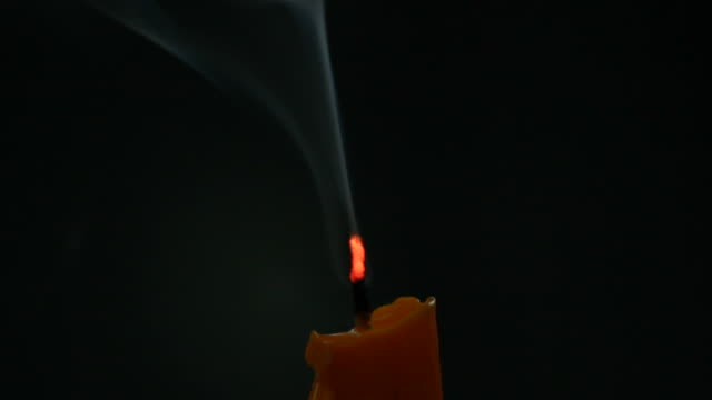 beauty candle smoke - extinguishing stock videos & royalty-free footage