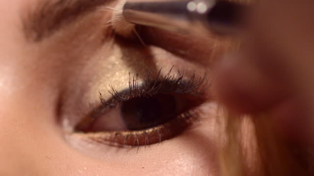 beauty - eyes - make up brush stock videos & royalty-free footage