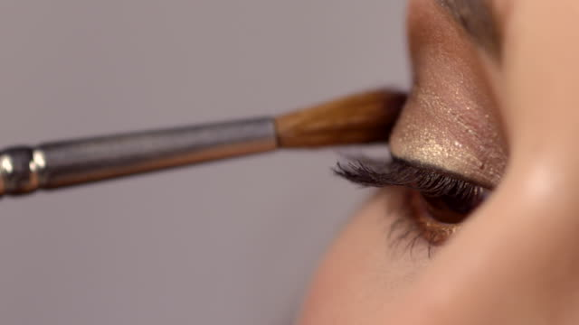 beauty - eyes - make up brush stock videos and b-roll footage