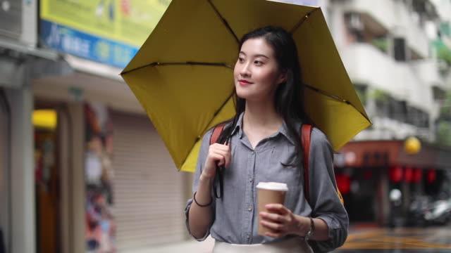 beauty in the rain - umbrella stock videos & royalty-free footage
