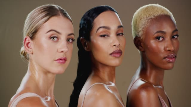 beauty is found in diversity - skin care stock videos & royalty-free footage