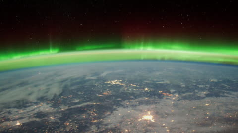 vídeos y material grabado en eventos de stock de beauty of planet earth from the international space station (iss). colorful aurora borealis seen from space - ubicaciones geográficas