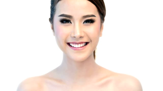 Beauty Portrait Of Woman Beautiful Face In Skincare Concept.