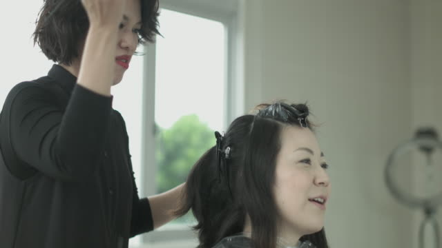 beauty salon. japan - pampering self stock videos and b-roll footage
