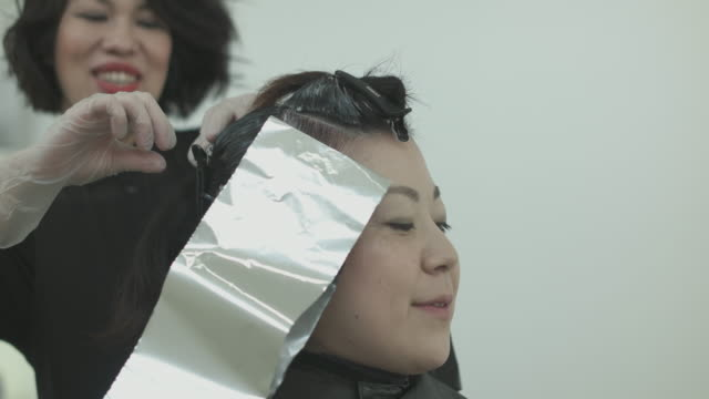beauty salon. japan - アルミホイル点の映像素材/bロール