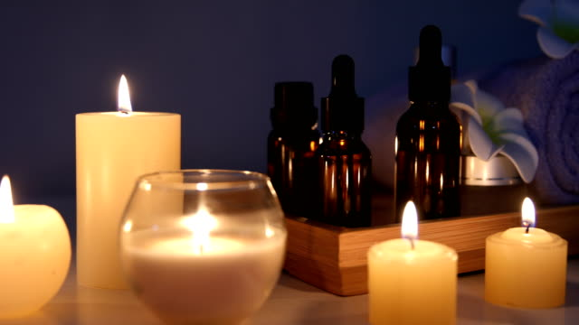 beauty spa candle