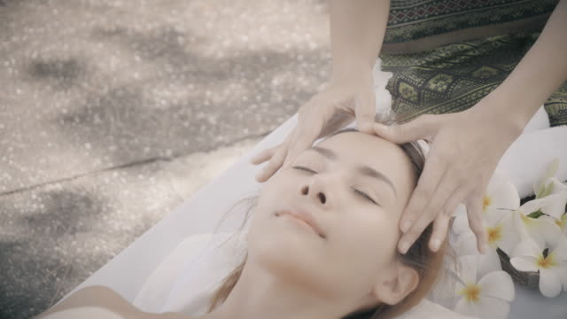 beauty spa massage treatment concept. - massaging stock videos & royalty-free footage