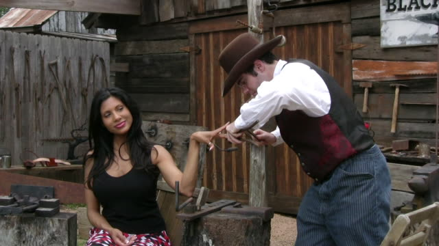 beauty treatment in wild west - manicure stock videos & royalty-free footage