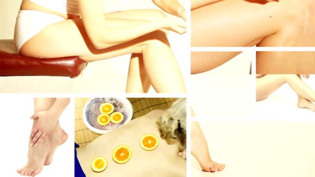 vídeos y material grabado en eventos de stock de montaje de bucle: tratamiento de belleza - desodorante