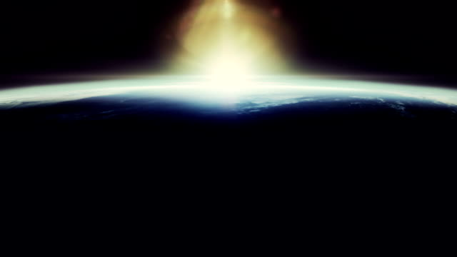 beautyfull sunrise from space - reportage stock videos & royalty-free footage