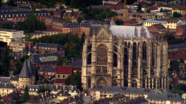 AERIAL Beauvais Cathedral/ Beauvais, France