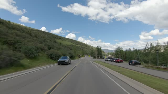 beaver creek ski resort 8 synced series front summer driving - number 8 stock videos & royalty-free footage