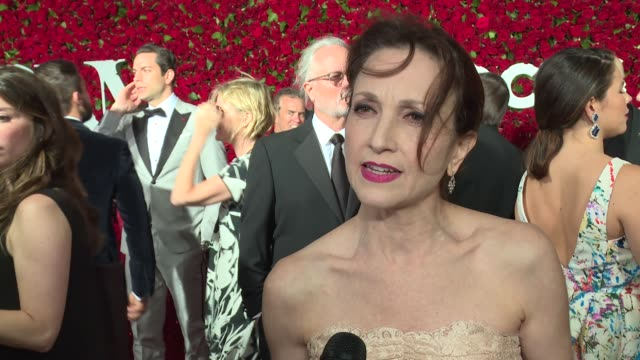 interview bebe neuwirth talks about the theater community banding together in the face of tragedy at 2016 tony awards red carpet at 2016 tony awards... - 70th annual tony awards stock videos and b-roll footage