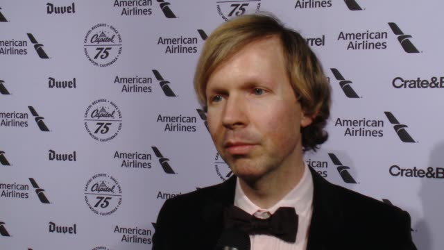 INTERVIEW Beck Hansen on Capitol Records and tonight's event what is a Capitol artist at Capitol Records Celebrates 75th Anniversary With Hollywood...