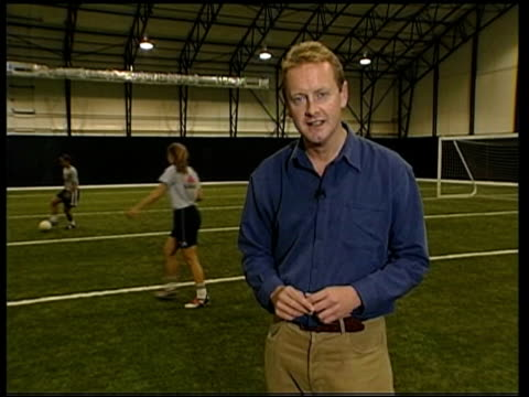 i/c MS Women footballers training Audra Poulin interview SOT it was cute and funny