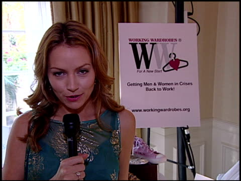 becki newton on workingwardrobescom at the marie claire fashion closet presented by luxury lounge with becki newton at the four seasons hotel in... - four seasons hotel stock videos & royalty-free footage