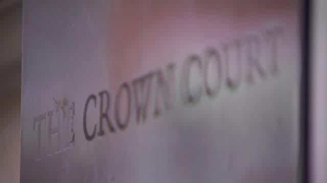 nathan matthews breaks down in court bristol bristol crown court 'the crown court' sign outside bristol crown court 'the law courts' sign outside... - bristol england stock videos & royalty-free footage