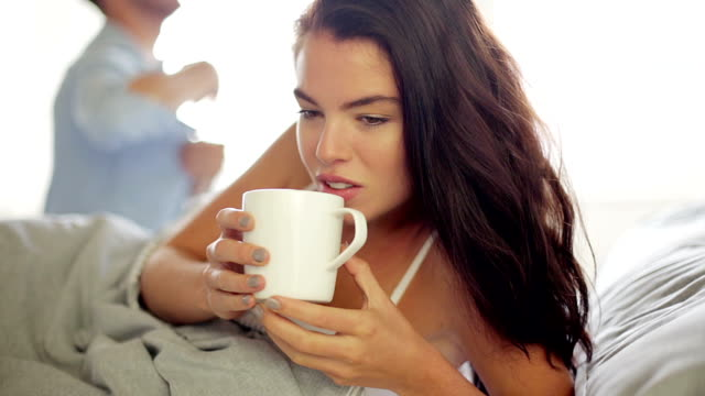 bed coffee - husband stock videos & royalty-free footage