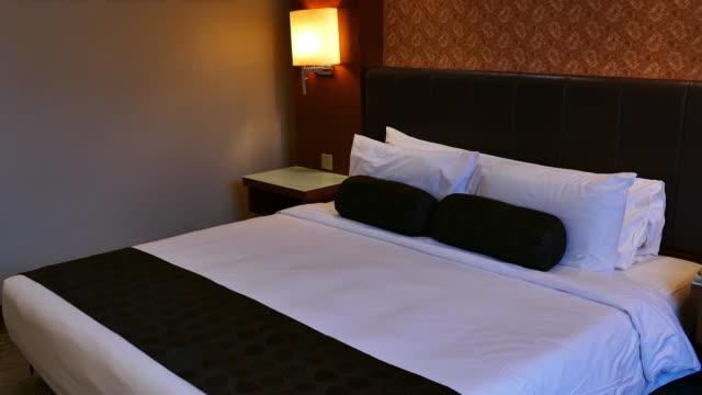 bed in een hotel