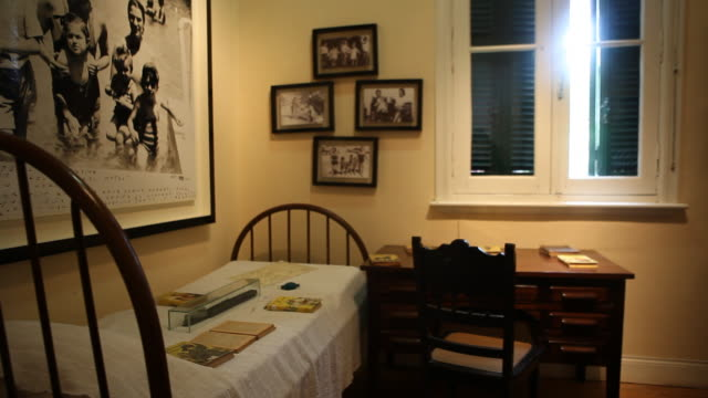 Alta Gracia Argentina February 08 2012 Bed in the building of the Che Guevara Museum in Alta Gracia Cordoba Argentina where Ernesto 'Che' Guevara...