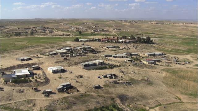 aerial ws zi bedouin village, negev, israel - negev stock videos & royalty-free footage