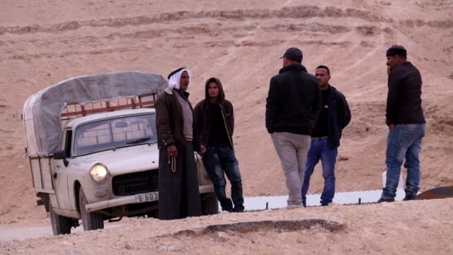 bedouins of the jahalin tribe community in the judean desert of the west bank on 22 february 2017. the jahalin bedouin tribe were uprooted from their... - ベドウィン族点の映像素材/bロール