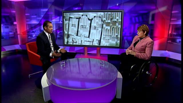 baroness greythompson interview england london gir int baroness greythompson studio interview sot - baroness stock videos & royalty-free footage