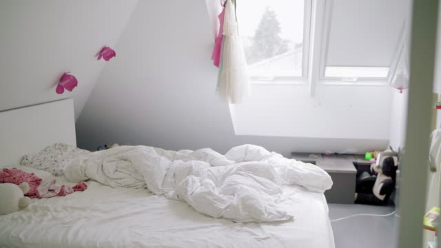bedroom - bedclothes stock videos & royalty-free footage