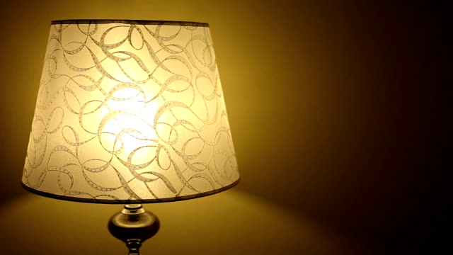 bedside lamp - lamp shade stock videos & royalty-free footage