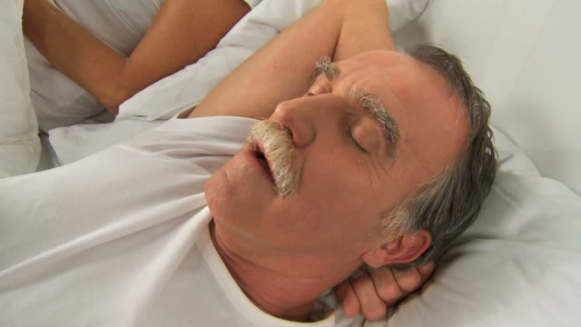 hd: bedtime snoring - snoring stock videos and b-roll footage
