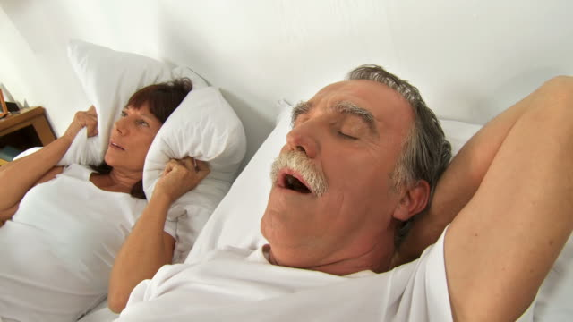 hd: bedtime snoring - mouth open stock videos & royalty-free footage